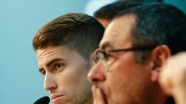 Jorginho looks set to follow Maurizio Sarri to Chelsea
