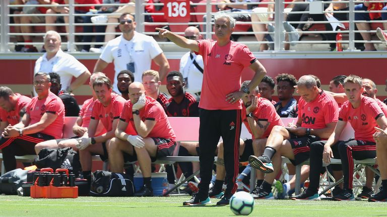 Jose Mourinho was not overly satisfied by United's draw in Santa Clara