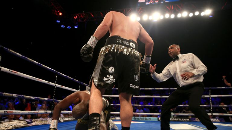 Parker floored Whyte in a dramatic 12th round