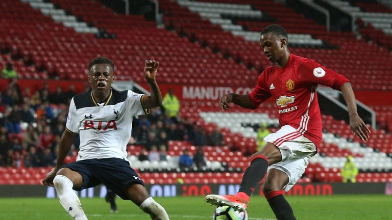 Joshua Bohui (right) in FA Youth Cup action