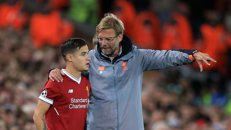 Philippe Coutinho left Liverpool in January