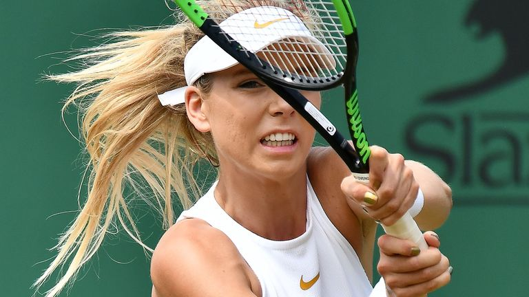 Britain's Katie Boulter reached the last 16 of the Tianjin Open