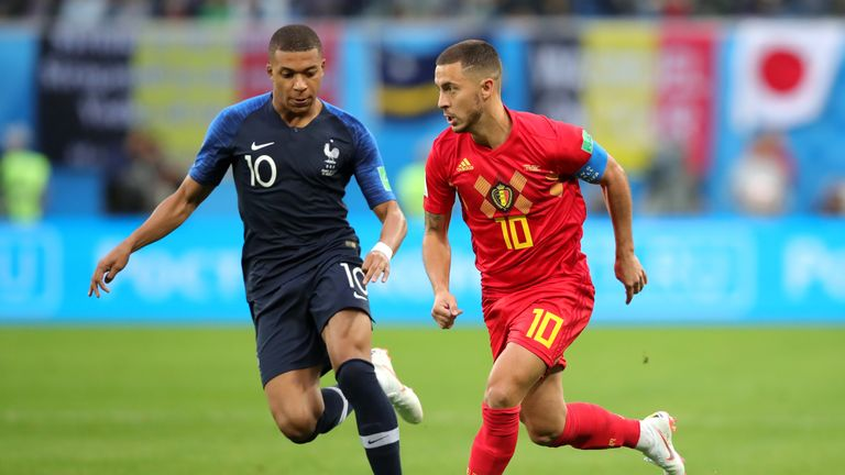 Mbappe and Eden Hazard starred in the World Cup semi-final clash