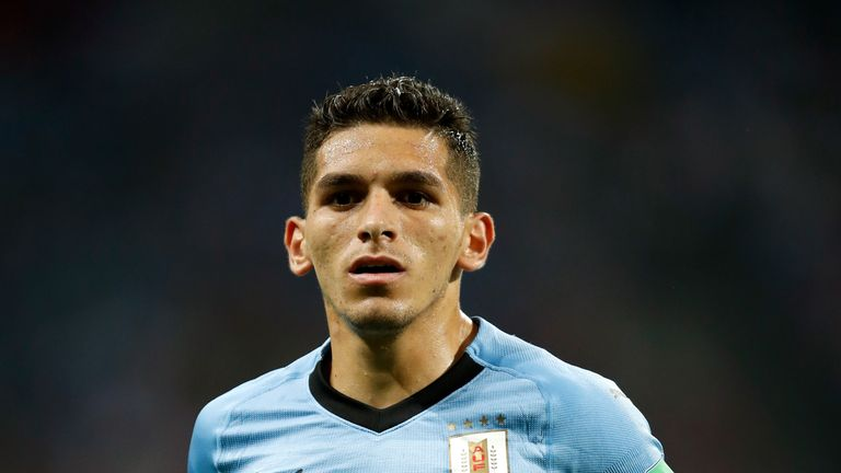 Torreira started three of Uruguay's five games at the World Cup last summer
