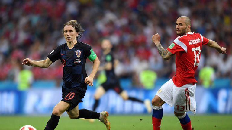 Modric was speaking after Croatia beat Russia on penalties to set up a World Cup semi-final against England