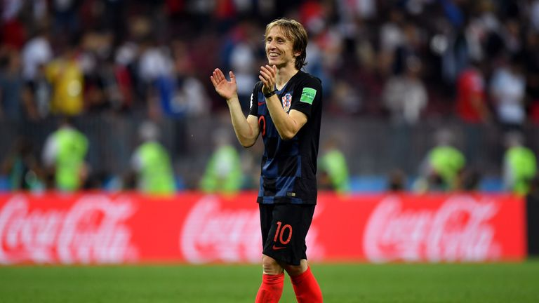 Luka Modric dominated from the midfield in the semi-final against England