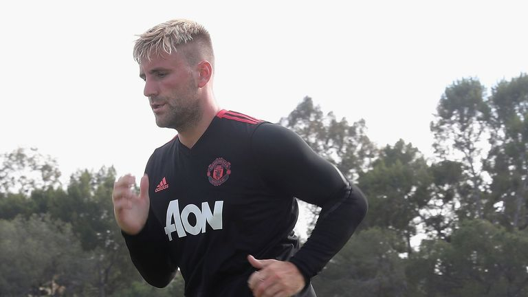 Luke Shaw has been working hard ahead of the new season at Manchester United