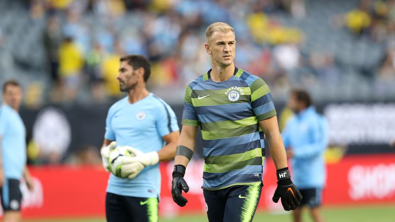 Joe Hart made a rare appearance for Man City in Chicago but could seal a move to Burnley