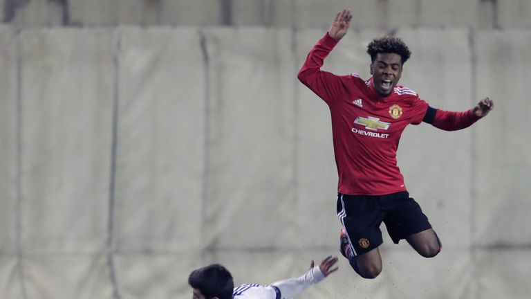 Angel Gomes made his first-team debut in 2017