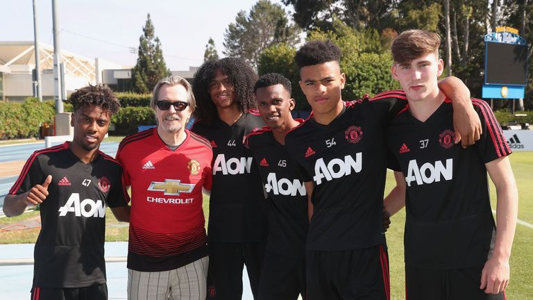 Chong (middle) joined Manchester United's brightest youngsters who travelled on their pre-season tour