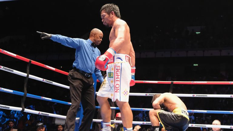 Pacquiao claimed his first knockout win in nine years