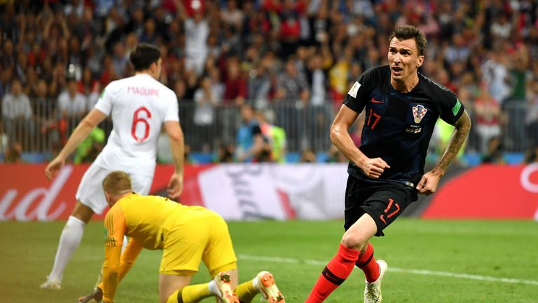 Mario Mandzukic gave Croatia the lead in the second period of extra-time
