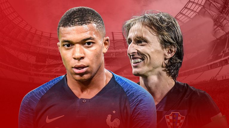 Kylian Mbappe and Luka Modric have starred in Russia but who will come out on top on Sunday?