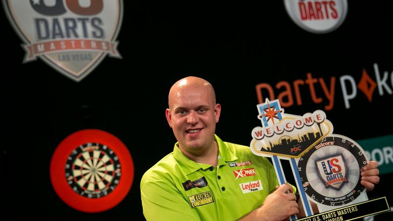 Michael van Gerwen will defend his US Masters title over two days of darts in Las Vegas