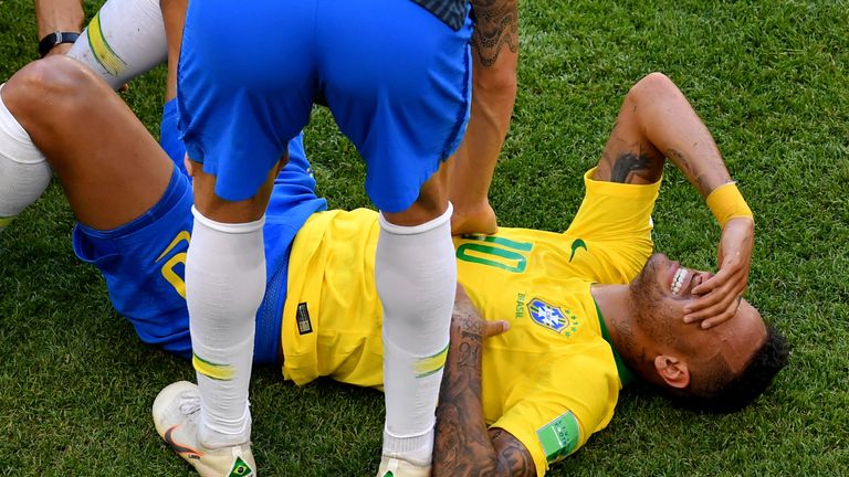 Neymar has split opinion after his behaviour on Monday