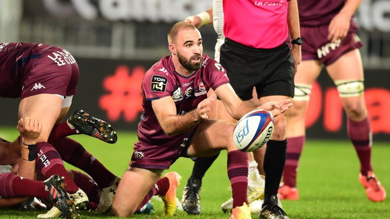 Frisby made nine appearances for Bordeaux Begles last season, scoring one try