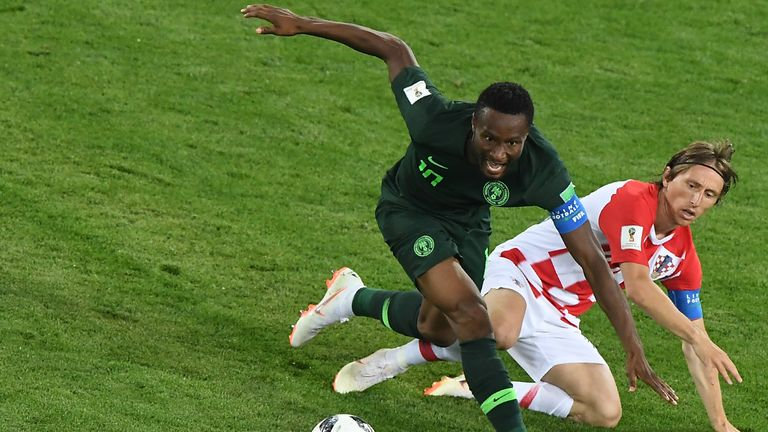 Mikel, who has 85 appearances for Nigeria, captained his country throughout this year's World Cup