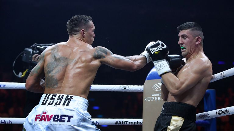 Marco Huck was stopped by Oleksandr Usyk in the 10th round
