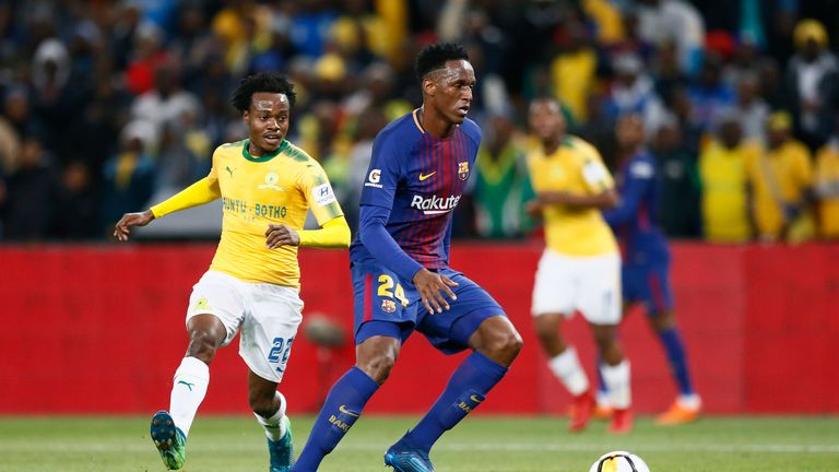 Percy Tau has agreed a four-year deal with the club
