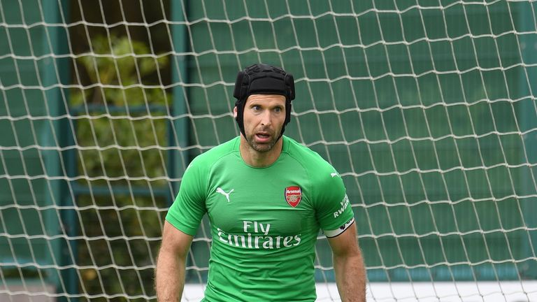 Petr Cech wants to fight for the No 1 spot at Arsenal