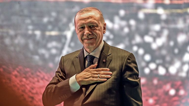 Turkey's president Recep Tayyip Erdogan has defended Mesut Ozil