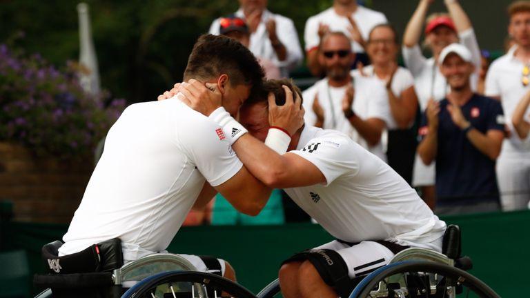The duo remain unbeaten together at Wimbledon - Credit Anna Vasalaki
