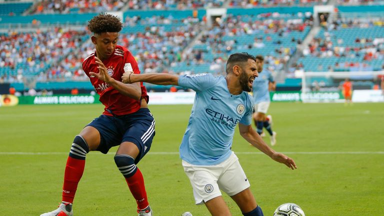 Riyad Mahrez injured his ankle early in Man City's 3-2 draw over Bayern Munich