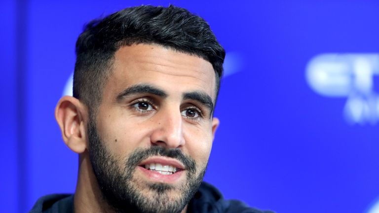 Riyad Mahrez left to join Manchester City for £60m