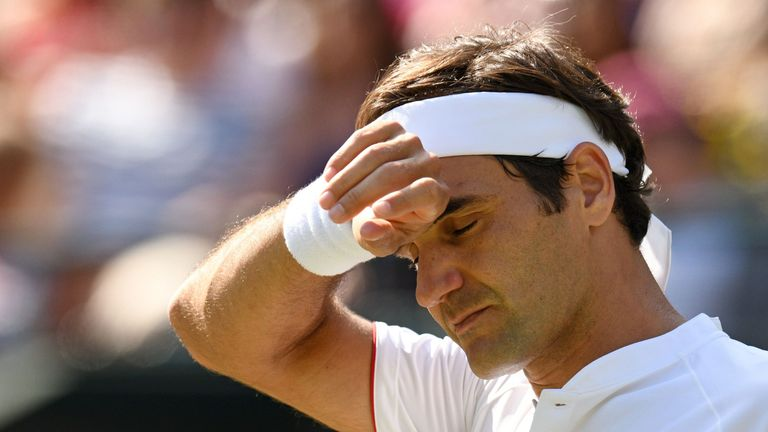 Roger Federer was stunned by Kevin Anderson in the Wimbledon quarter-finals