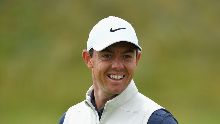 during previews to the 147th Open Championship at Carnoustie Golf Club on July 18, 2018 in Carnoustie, Scotland.
