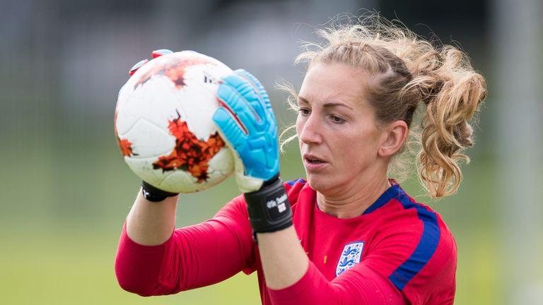 Siobhan Chamberlain training for England