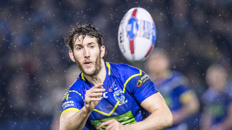 Stefan Ratchford scored Warrington's only try at the DW Stadium