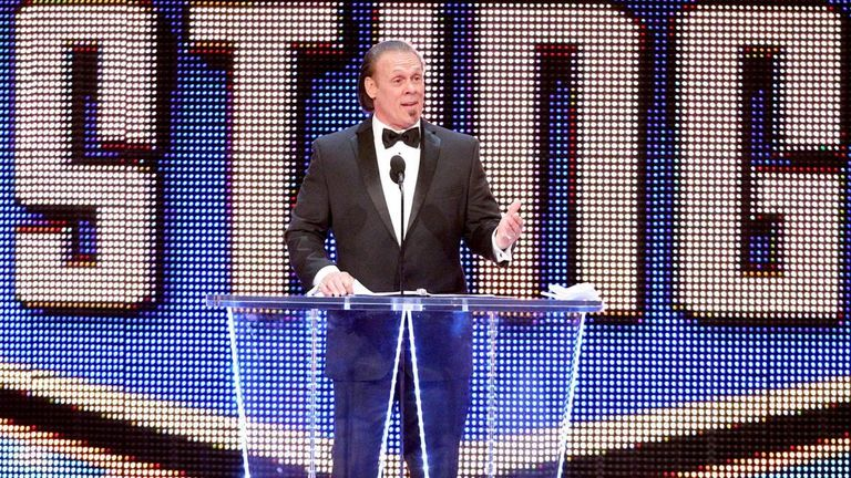Sting was inducted into the WWE Hall of Fame in 2016