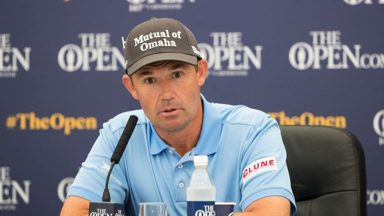 Padraig Harrington during his press conference ahead of The 147th Open at Carnoustie