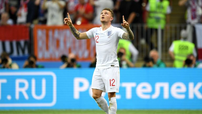Kieran Trippier's goal for England in the World Cup semi-final was not enough to prevent defeat to Croatia