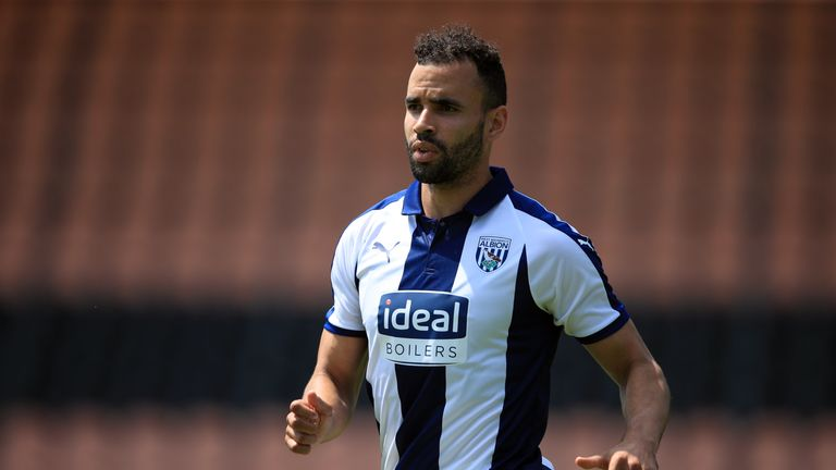 West Brom striker Hal Robson-Kanu