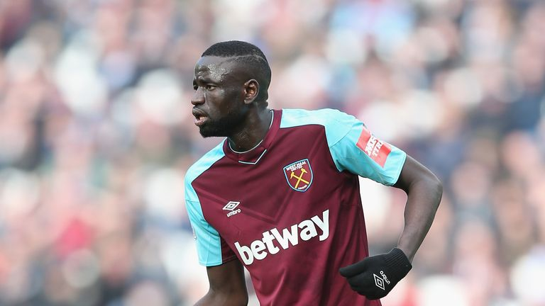 West Ham are willing to listen to offers of around £10m for Cheikhou Kouyate