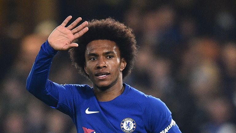 Manchester United and Barcelona were interested in Willian this summer