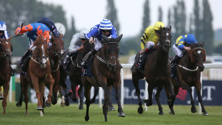 Stratum (centre) - leads Willie Mullins charge