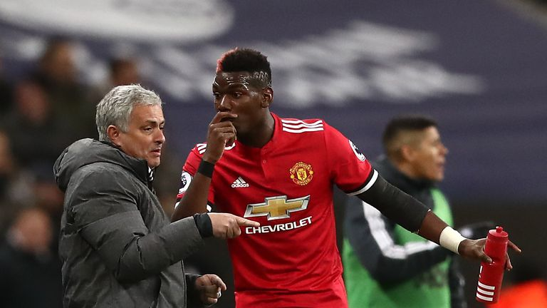 There were reports of disharmony between Mourinho and Pogba