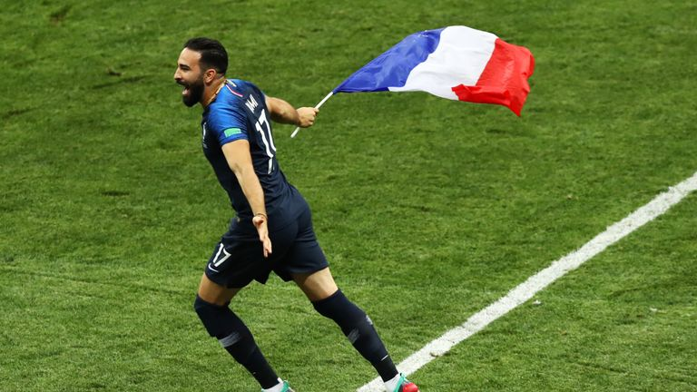 Adil Rami announced his retirement from international football after the World Cup final