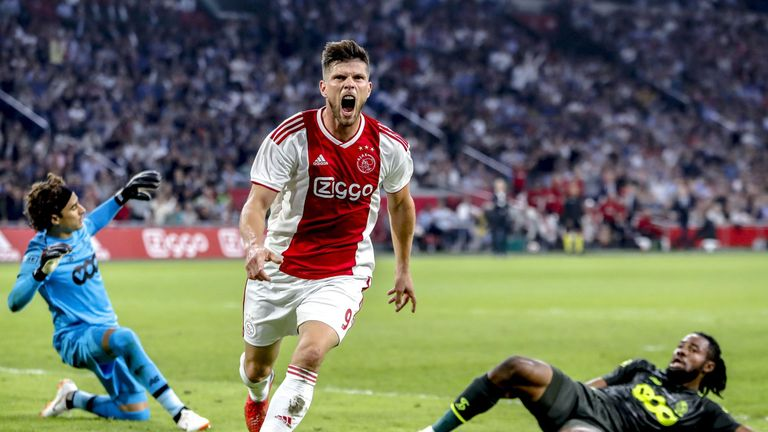 Veteran striker Huntelaar netted a late third