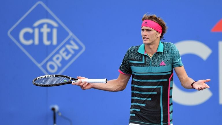 Alexander Zverev was upset with the quality of tennis on show during his loss to Stefanos Tsitsipas