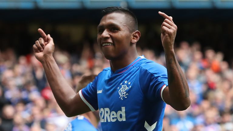 Alfredo Morelos has been sent off three times against Aberdeen