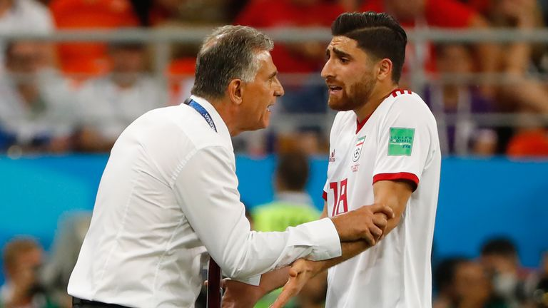 The 25-year-old started two of Iran's three group games at the 2018 World Cup