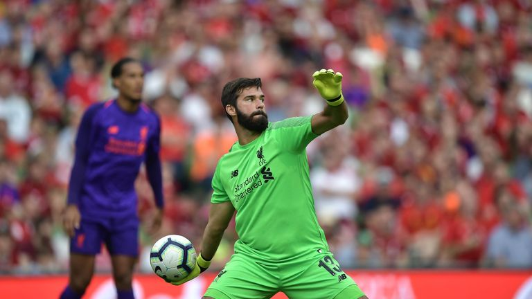 Alisson Becker joined Liverpool from Italian side Roma