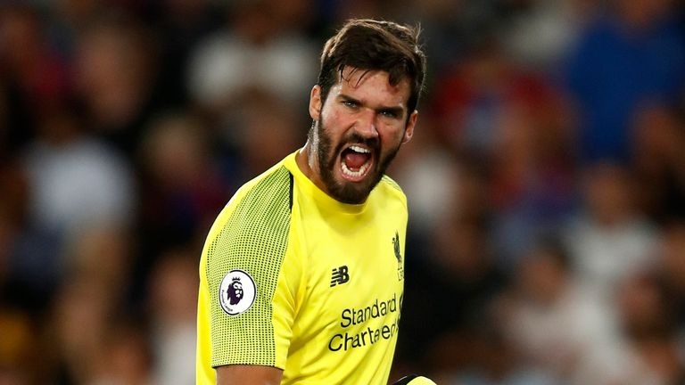 Alisson has conceded just six goals in the Premier League this season