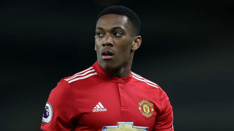 Anthony Martial was omitted from Manchester United's squad to face Spurs altogether