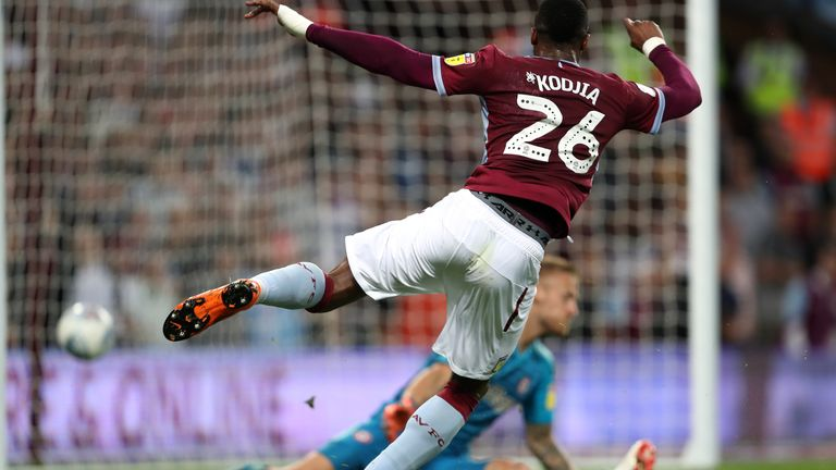 Kodjia equalised for Villa with a superb turn and finish