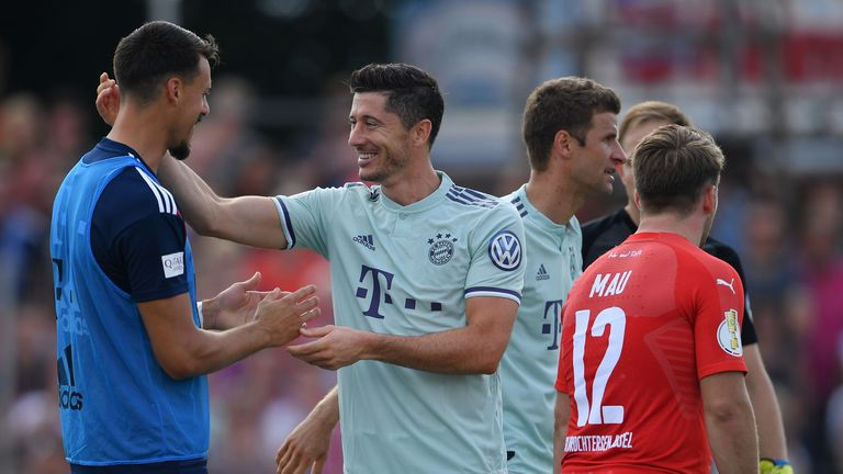 Robert Lewandowski scored Bayern Munich's winner in the 82nd minute against fourth-tier Drochtersen/Assel